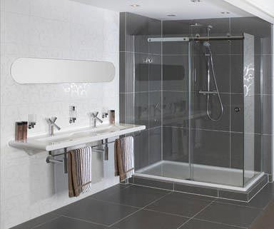 Inloopdouche google zoeken badkamer ontwerpen pinterest - Voorbeeld deco badkamer ...