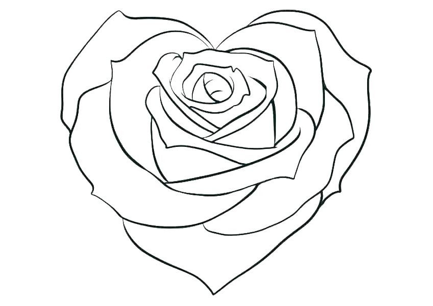 Roses And Hearts Coloring Pages Best Coloring Pages For Kids Cute Heart Drawings Rose Coloring Pages Heart Drawing