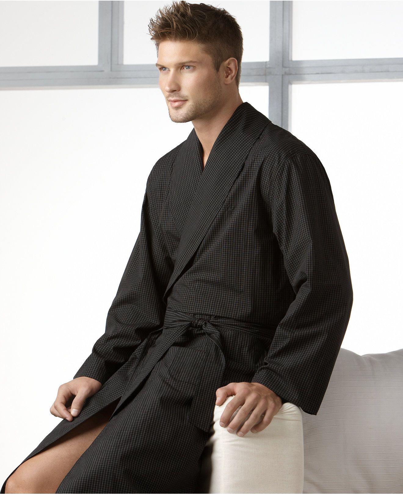 Modern Robe : modern, Ralph, Lauren, Men's, Sleepwear,, Modern, Plaid, Reviews, Pajamas, Robes, Macy's, Jackets, Fashion,, Dressed