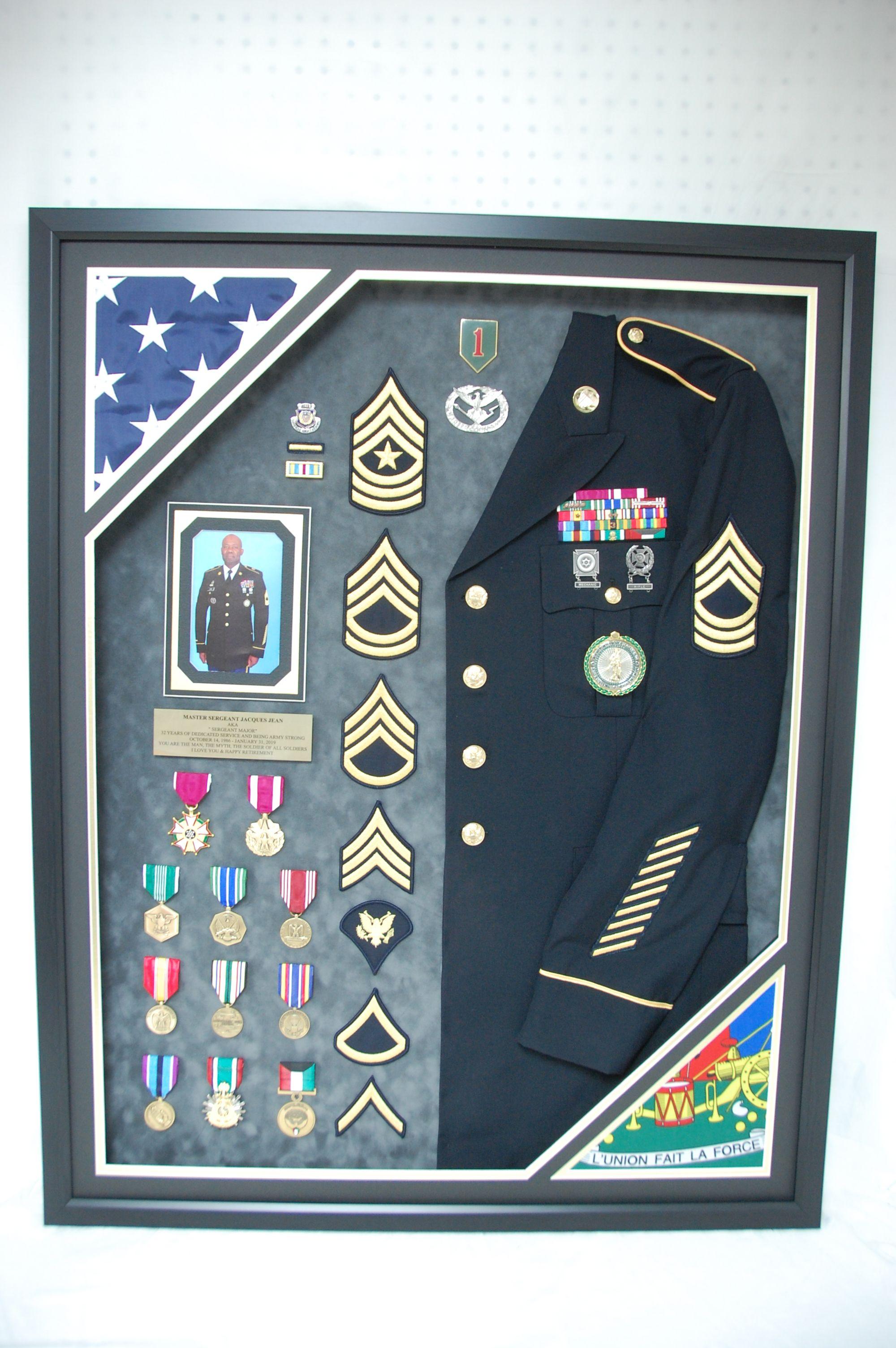 30 X 38 Double Flag Uniform Shadow Box In 2021 Military Shadow Box Military Shadow Box Ideas Shadow Box
