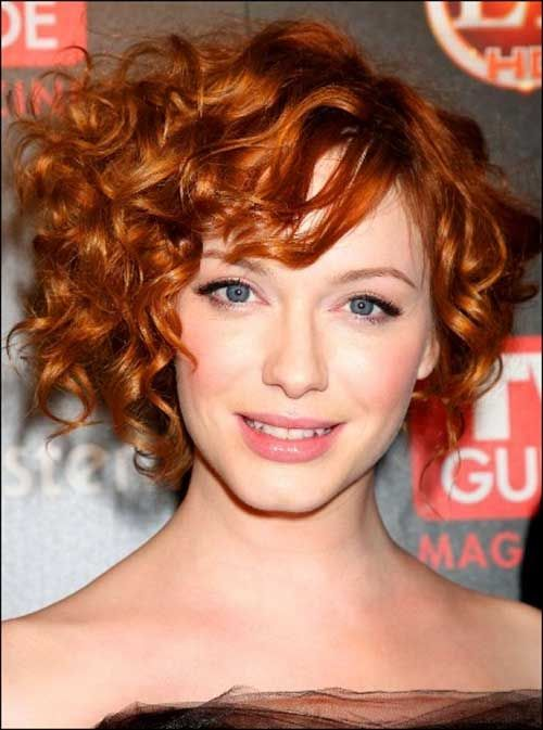 20 Red Bobs Hairstyles Bob Haircut And Hairstyle Ideas Curly Hair Styles Short Curly Haircuts Short Curly Hair