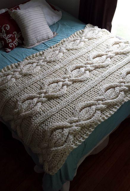 Twisted Cable Knit Blanket Pattern By Allison Huddleston Pinterest