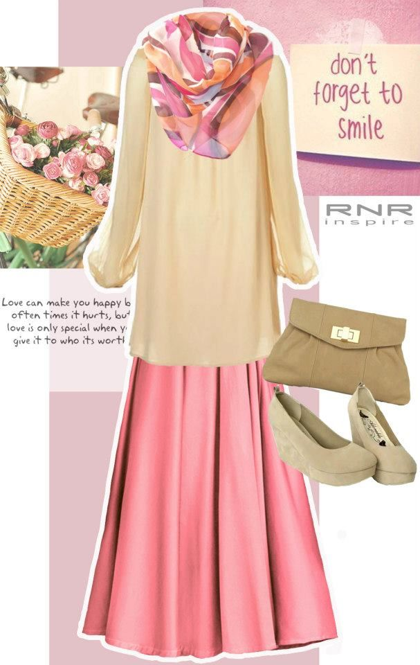 dusty pink maxi skirt muslimah things to wear