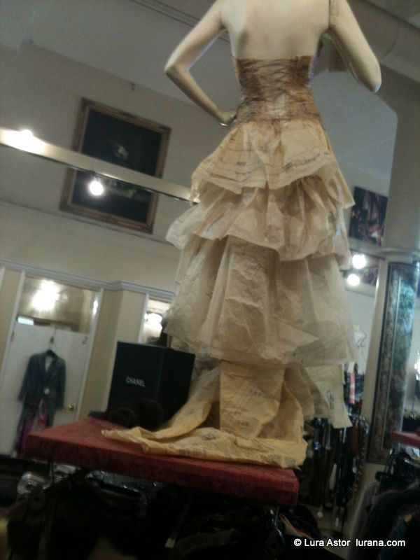 #paper #dress with #lacing #display / photo: Lura Astor