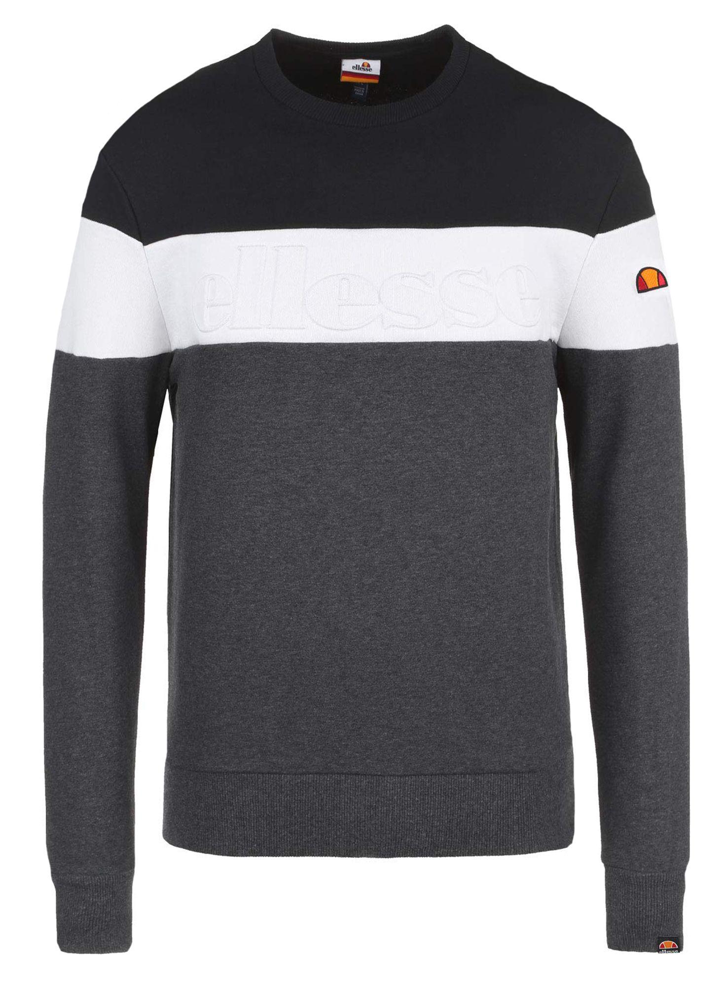 Ellesse Torre Logo Crewneck Sweatshirt Dark Grey Sweatshirts Crew Neck Sweatshirt Mens Sweatshirts Hoodie [ 2000 x 1474 Pixel ]