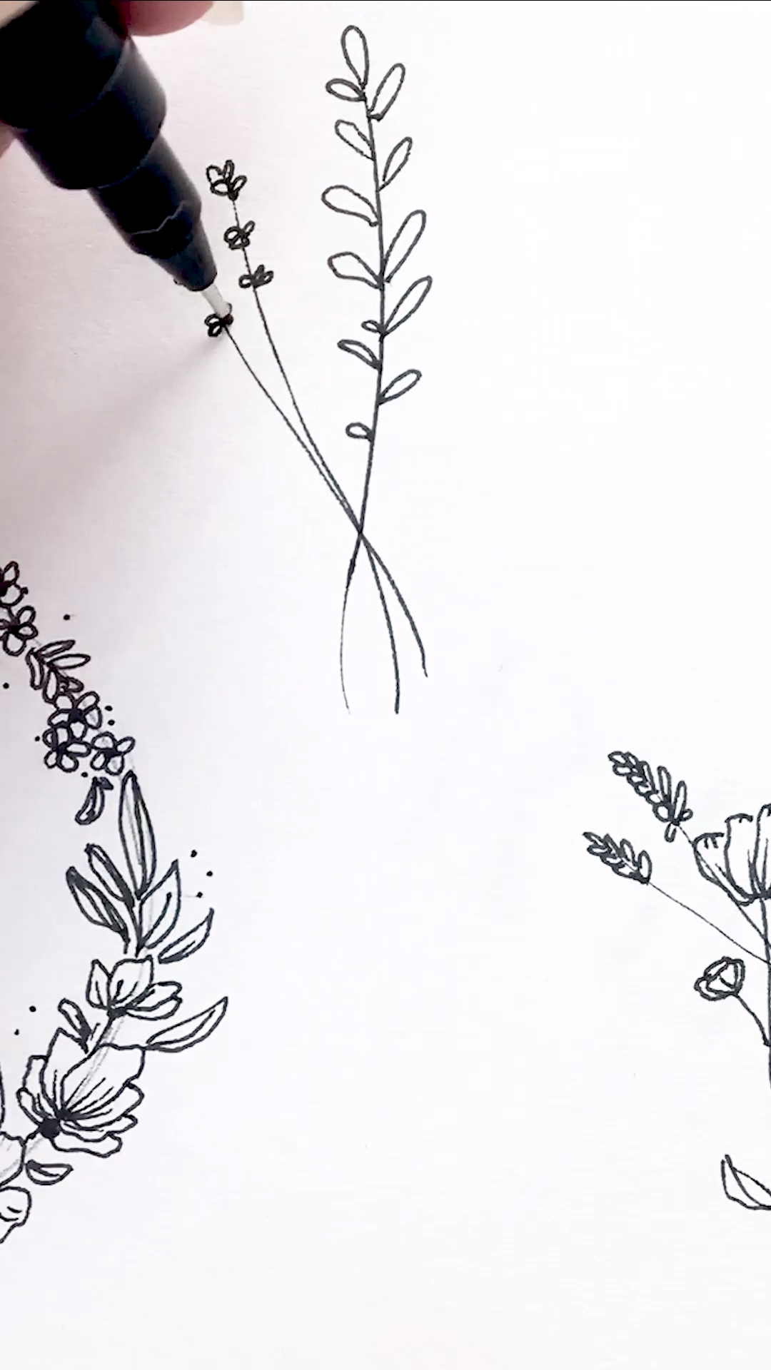 Simple Floral Line Drawing | Tattoo Idea