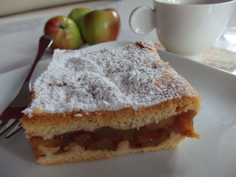 Kruchy jabłecznik z musem Food, Desserts, Yummy food