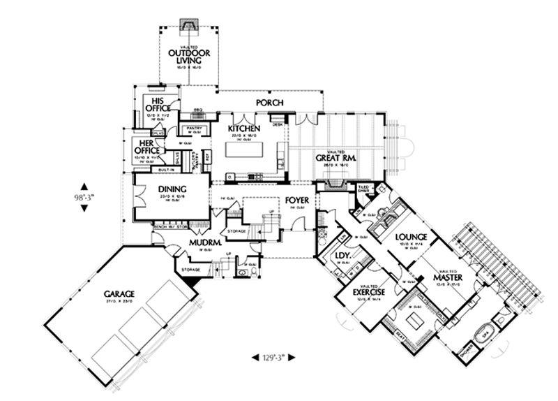 House Plan 48 466 Floorplans From Houseplans Com Craftsman Style House Plans Floor Plan Design House Plans