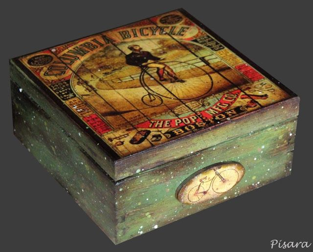 Decoupage Art Altered Boxes Wooden Craft Ideas Google Search Decorated Slab Doors Wood Decorative