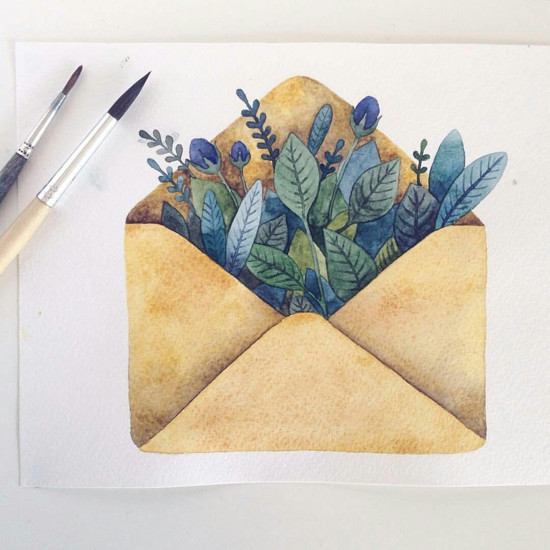 Оригинальная нарисованная открытка, открытку