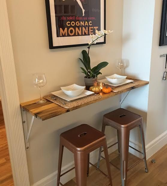 Reclaimed Wood Breakfast Bar Table MADE TO ORDER By ReworxUSA