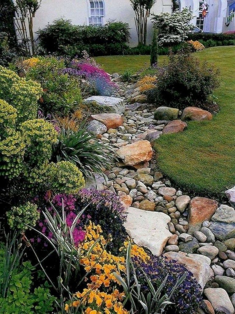 ✔48 new trending front yard rock landscaping ideas 26 #steingartenideen
