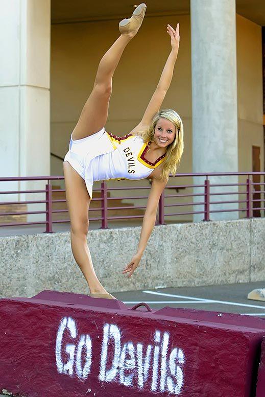 flexible college girl