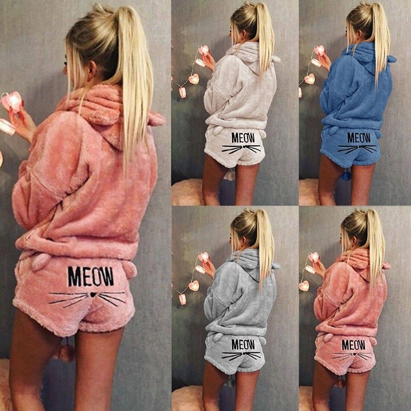35dd2fff3a Women Winter Cat MEOW Hoodie Pajamas  fashion  clothing  shoes  accessories   womensclothing  intimatessleep (ebay link)