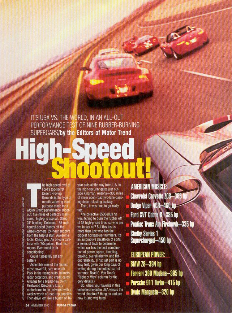 2000 Ford Mustang Cobra R Vs Competition High Speed Shootout