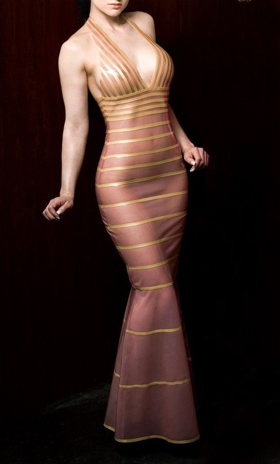 Latex evening gown. | Latex dress | Pinterest | Latex, Gowns and ...