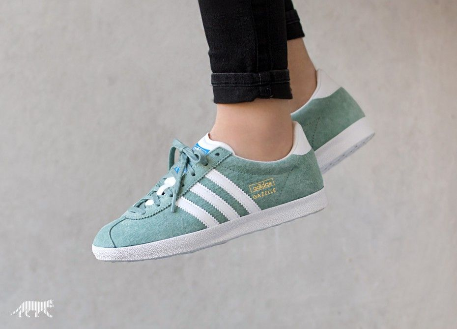 womens adidas green gazelle og trainers
