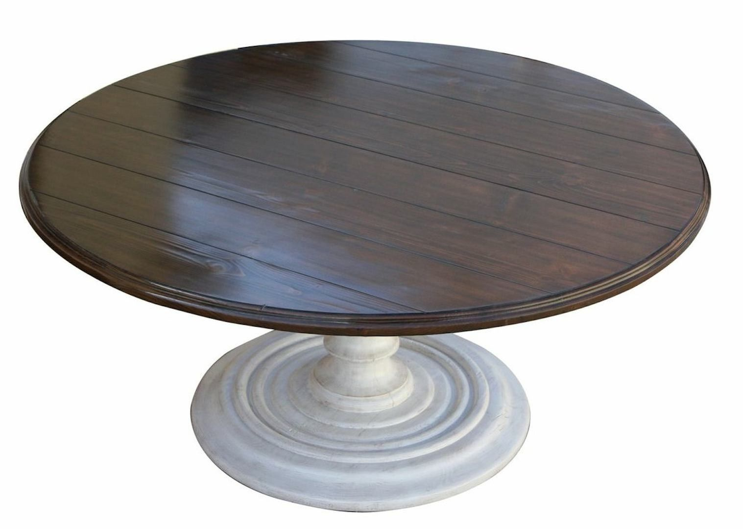 Salvaged Wood Plank Round Dining Table  Wood Planks Round Dining Inspiration Plank Dining Room Table Decorating Design
