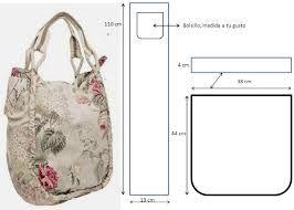 8a9b1acec24 Resultado de imagen para patrones bolsos tela