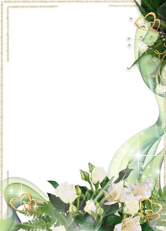 Beautiful Transparent Photo Frame With White Flowers And Gold Hearts Flower Background Wallpaper Wedding Graphics Photo Frame Design
