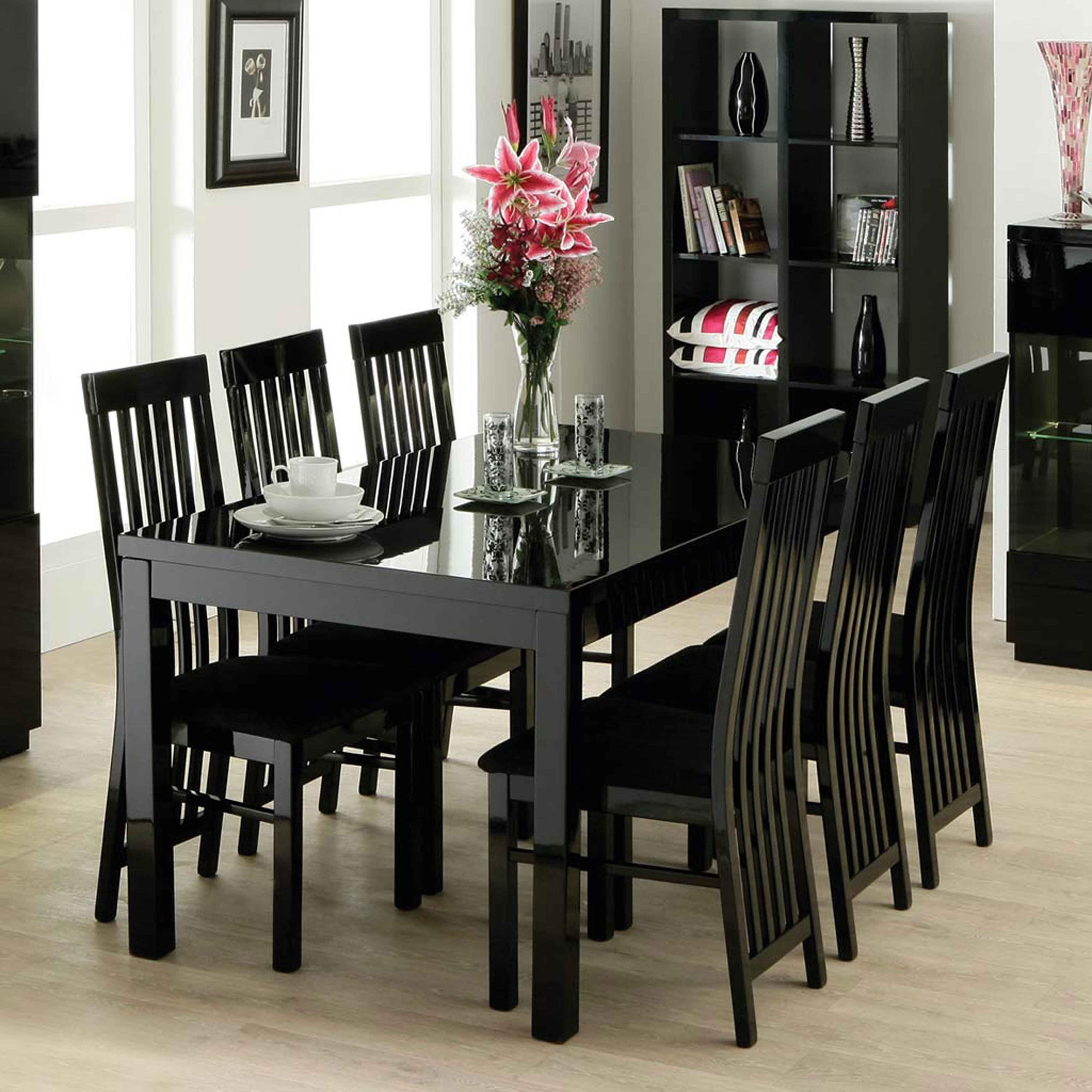 Black Wooden Dining Room Table Httpfmufpi Pinterest Brilliant Sets Inspiration Design