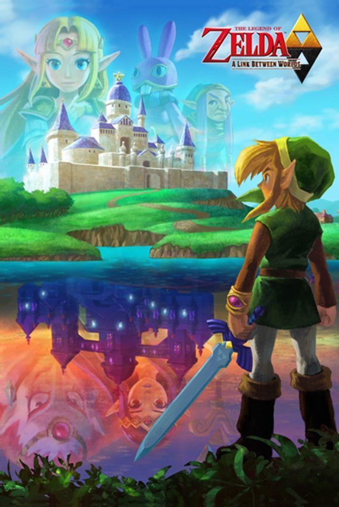 Zelda Link Between Worlds Gaming Poster
