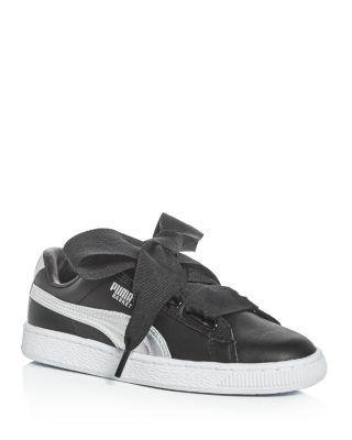 fc62bdba407c PUMA Women S Basket Heart Explosive Lace Up Sneakers.  puma  shoes  sneakers