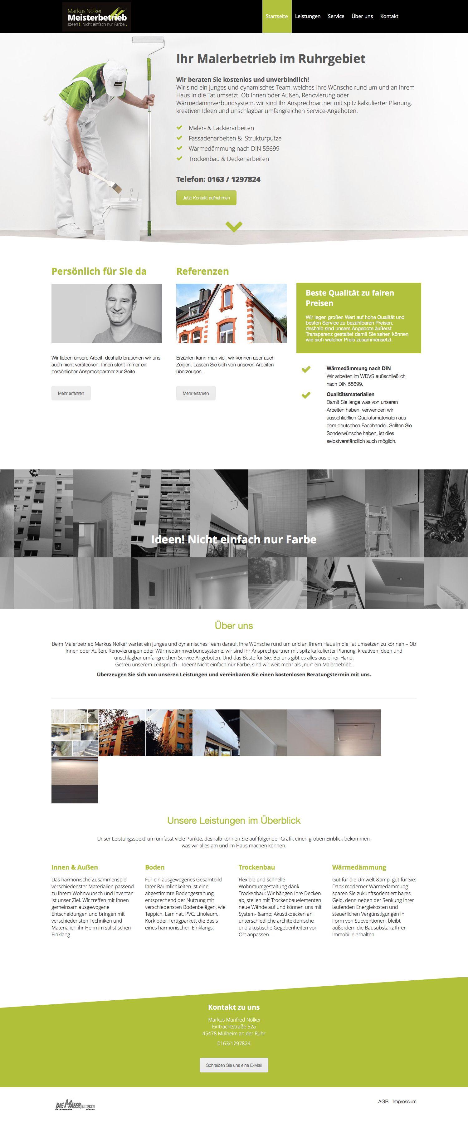 Webdesign Malerbetrieb   Webdesign   Pinterest