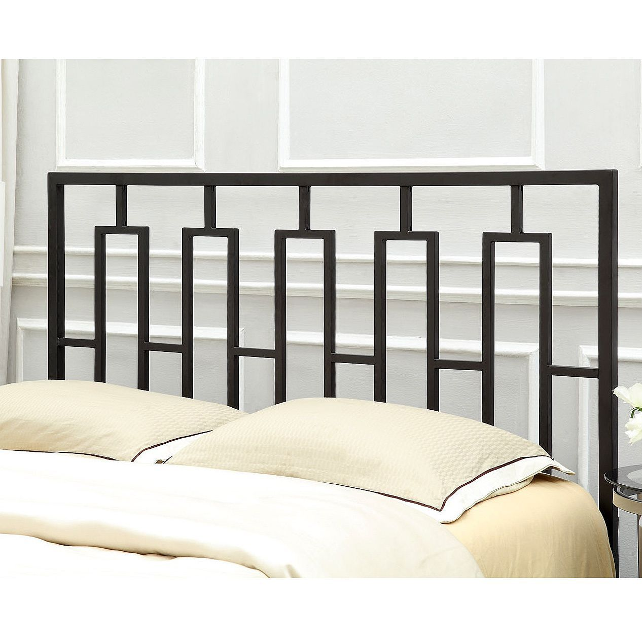 Monarch Satin Black Queen/ Full-Size Headboard/ Footboard (Queen/Full)
