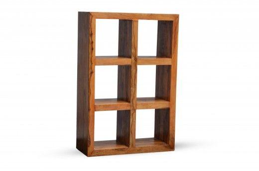 Bücherregal Cube massiv Holz Moebel Palisander Bücherschrank Regal ...