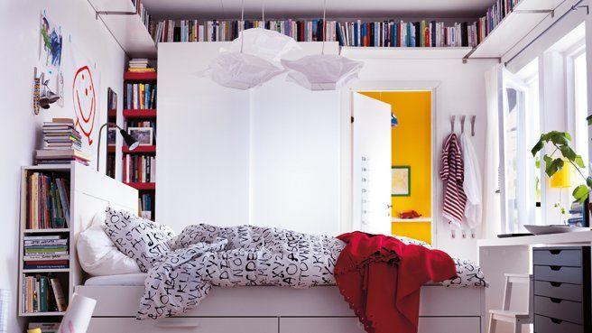 Bibliotheque plafond et tete de lit