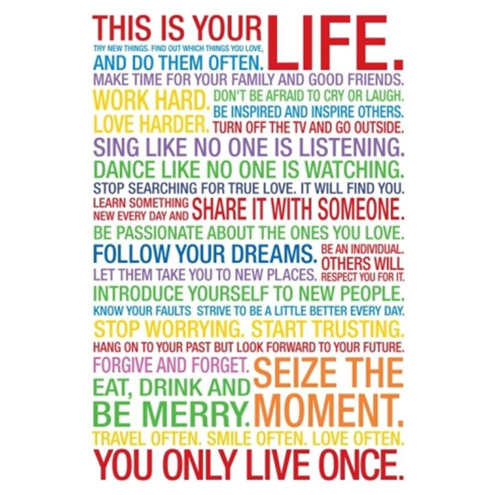 This Is Your Life Quote This Is Your Life Motivational Quote Poster  Harvard University