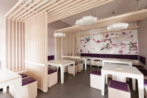 Romantic Japanese Style Restaurant Interior Design