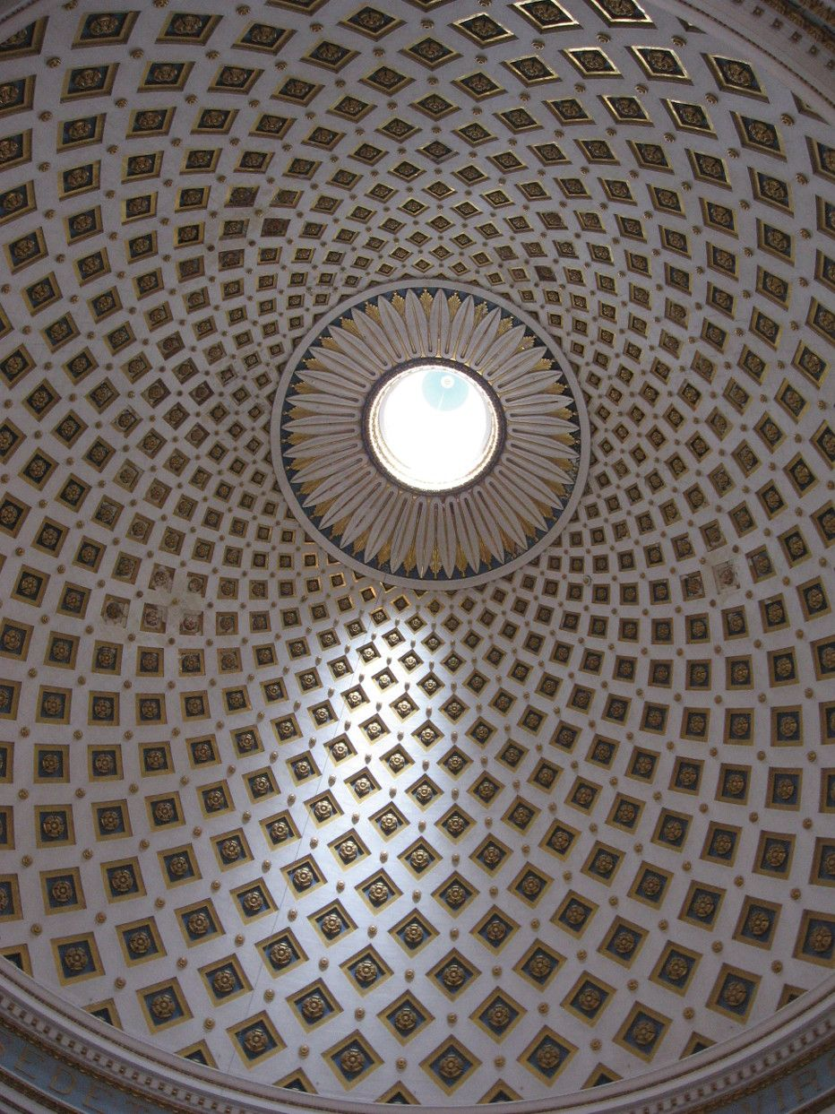 rep.Malta-Malta-Mdina-Kuppel im Dom