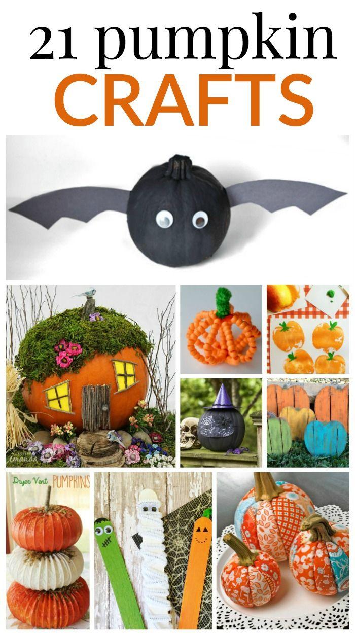 21 pumpkin crafts halloween treatshalloween decorationshappy - Non Scary Halloween Decorations