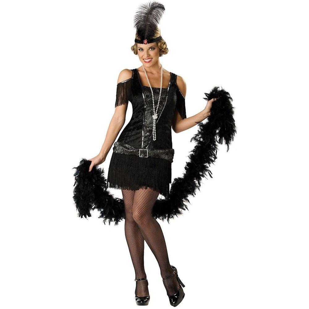 Photo of Flapper Costume Adult 1920s Halloween Fancy Dress  | eBay