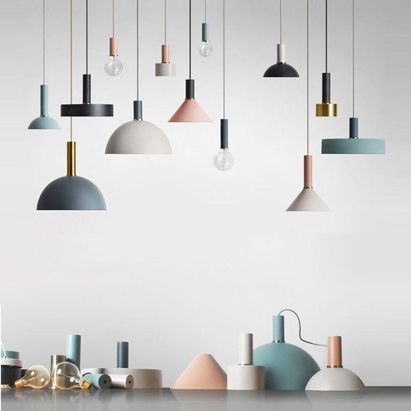 Nordic Loft Simple Pendant Lights E27 Led Modern Creative Hanging Lamp Design Diy For Bedroom Living Room Kitchen Restaurant Hanging Lamp Design Simple Pendant Light Living Room Pendant Light