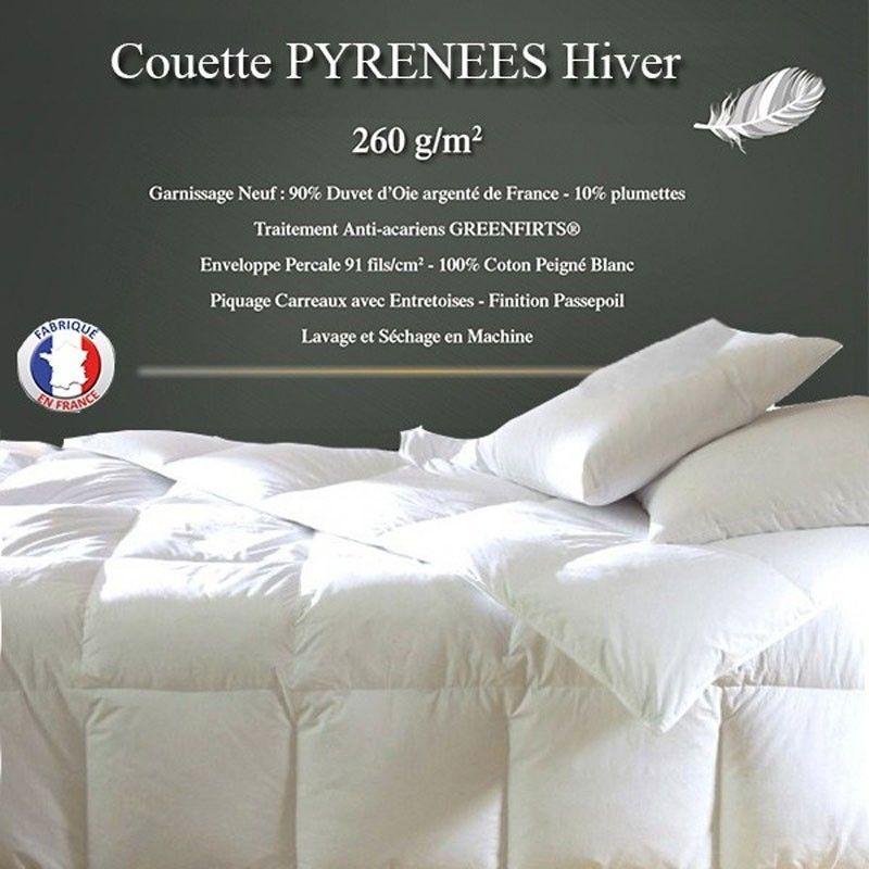 Couette 240x280 90 Duvet Oie La Compagnie Du Blanc Vous