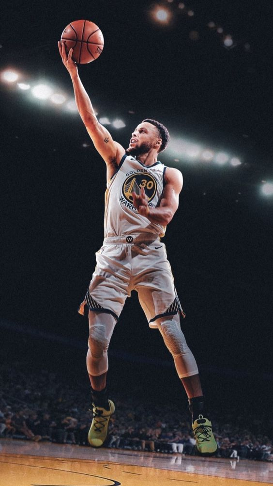 steph curry wallpaper HD image jump basketball in 2020