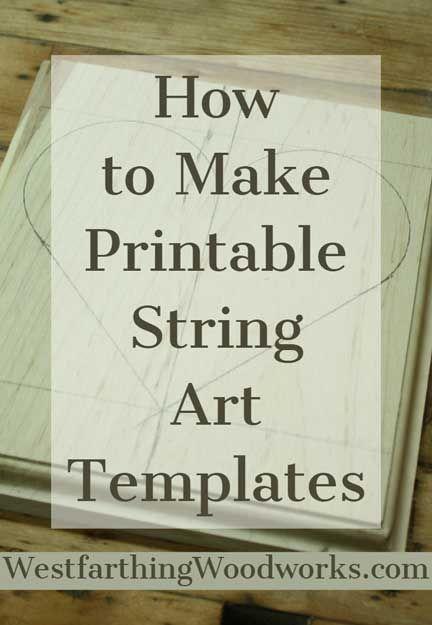How to Make Printable String Art Templates #stringart