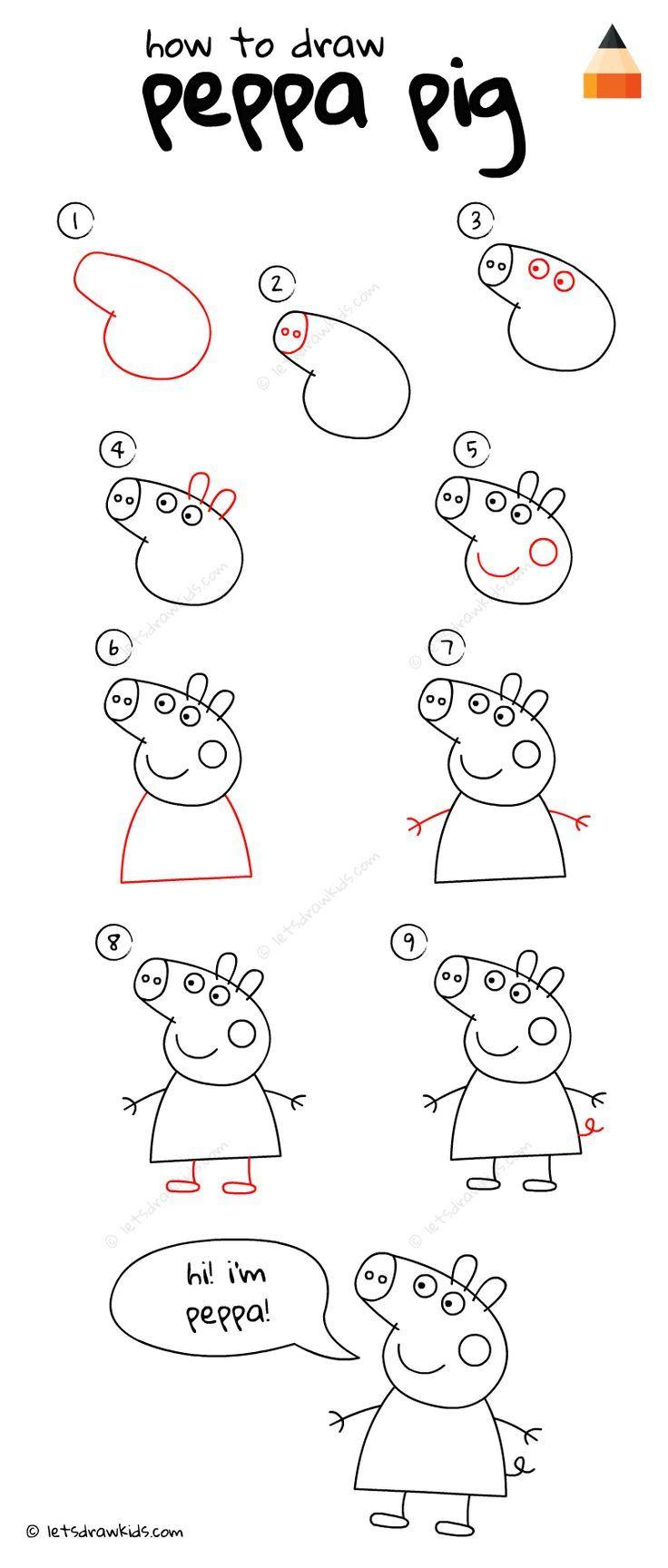 How To Draw Peppa Pig Jeux Dessin Dessin Enfant