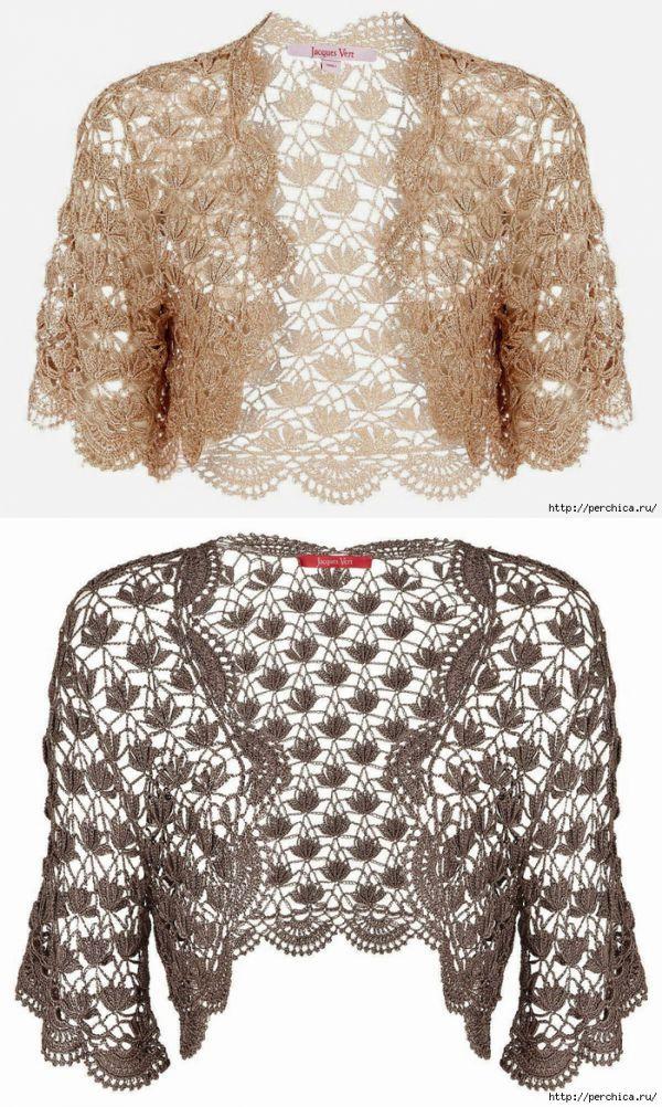 0cdfdcc9ae болеро | Crochet | Crochet clothes, Crochet y Crochet jacket