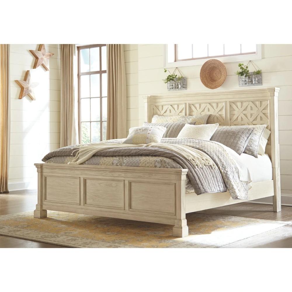Best Bolanburg Antique White Panel Bed White Casual Farmhouse California King Signature Design 640 x 480