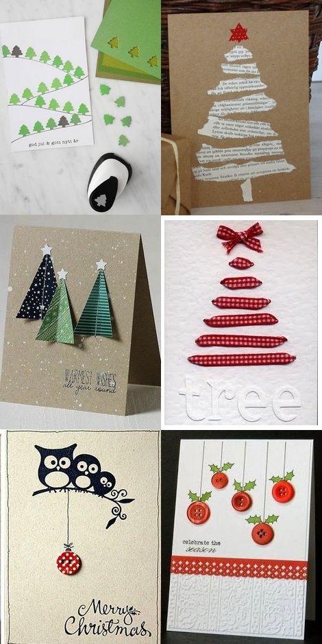 Noël Nouvel An Carte De Voeux Papier Bricolage Carte Noel