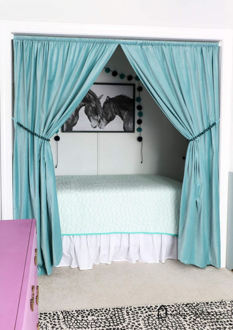 How to Turn a Closet into a Bed Nook | Designertrapped.com