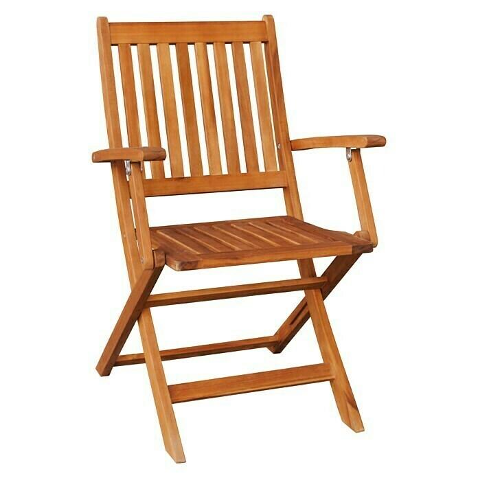 Sunfun Diana Garden Chair W X D X H 55 X 58 X 90 Cm Acacia Natural Bauhaus In 2021 Wooden Garden Chairs Folding Garden Chairs Garden Chairs