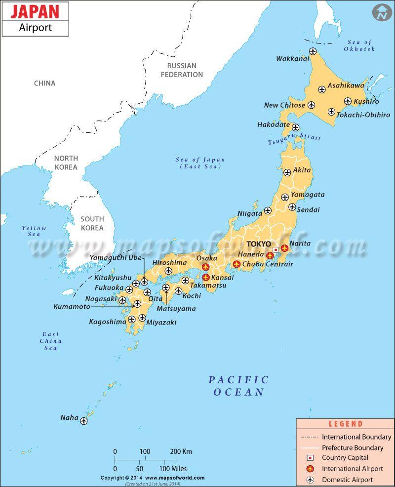 Airports in Japan | Maps | Map, Japan travel, International