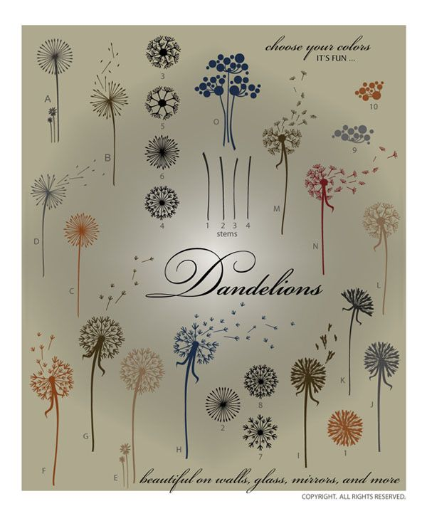 Downloadable Dandelion Vectors Perfect For Large Wall