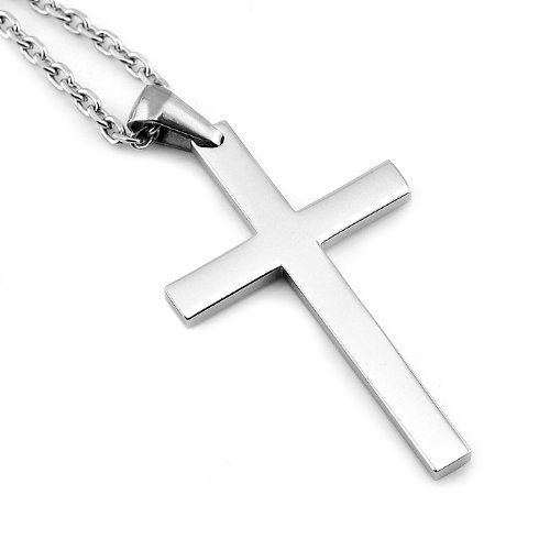 Sirius jewelry mens fashion gift crucifix cross stainless steel sirius jewelry mens fashion gift crucifix cross stainless steel pendant necklaces with gift box sirius jewelry mozeypictures Choice Image