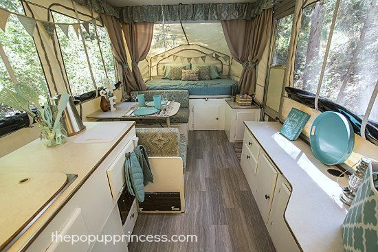 Stephanie's Pop Up Camper Makeover   Camping   Pop up tent